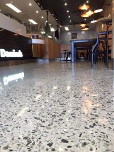 Dominos Polished Concrete retail floor