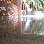 polished concrete enclosed outdoor