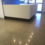 polished concrete medical office