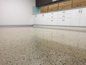 office polished concrete floor commercial