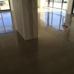 industrial look polished concrete floors