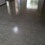 acyrlic industrial style polished concrete