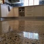 polished concrete home