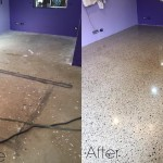 concrete floors changed to polished concrete