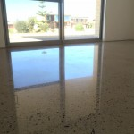 decorative residential polished concrete