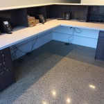 office polished concrete floor
