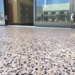 outdoor honed polished concrete