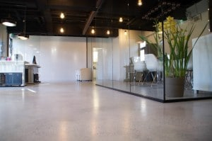 polished concrete office floors