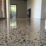honed and polished residential concrete