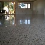 living area concrete flooring