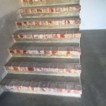 matte polished concrete stairs