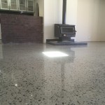 renovated home floor polished concrete