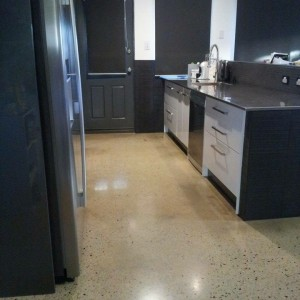 kitchen polished concrete floors