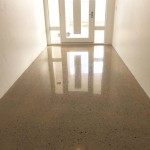 entryway polished concrete flooring