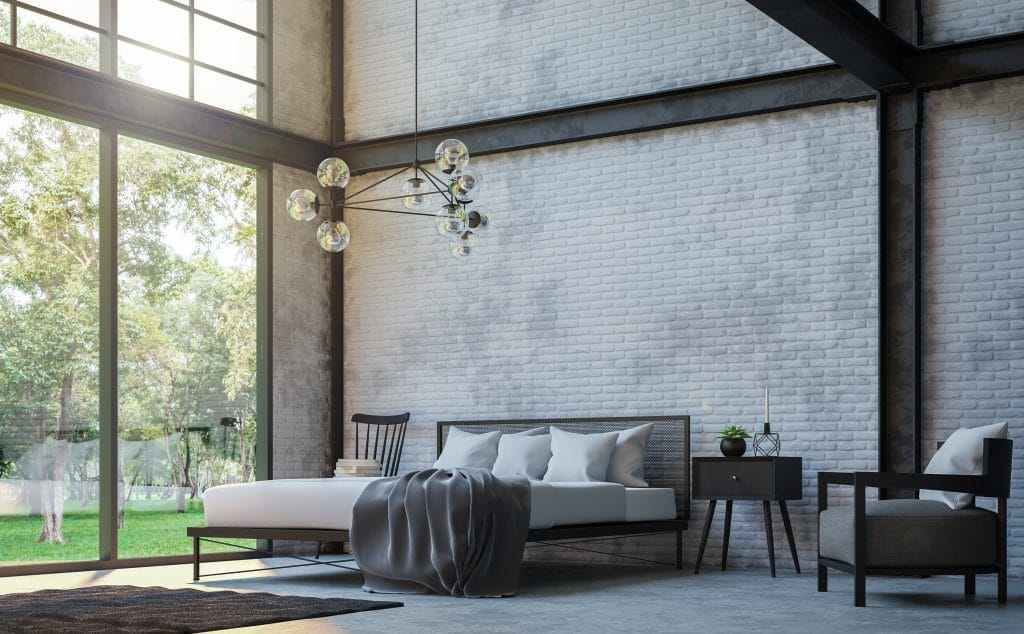 Warehouse Style Bedroom
