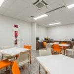 decorative concrete floor office